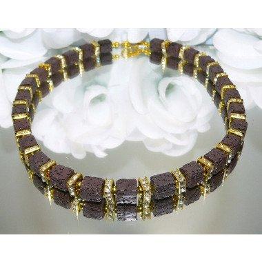 Kette, Halskette, Collier, Würfelkette, Necklace, Würfel, Cube, Metallperlen