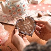 Brautjungfer Danke Geschenk Hängen Dehölzerne Herz Braut Party Sein Meine