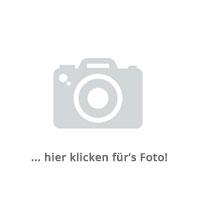 4tlg. Bistro- und Balkongarnitur Tisch Ø60cm Silber + 3 Polyrattan-Stapelstühle