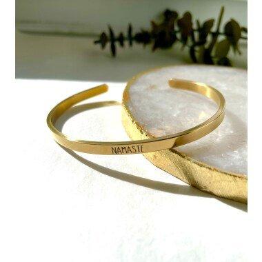 Armreif Gold Mit Gravur/Gravierter Schmal Damen Schmuck Graviert Armband