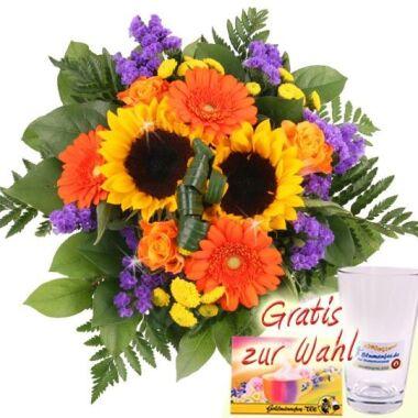 Blumenstrauß Sommer-Sonne / Blumen plus Gratis-Zugabe gewünscht