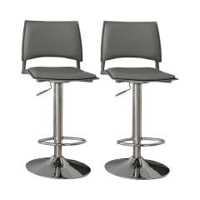 Höhenverstellbares Barhocker-Set Rankin Ebern Designs Sitzfarbe: Graphit