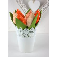 Tulpen Im Topf. Orange Tilda Stil