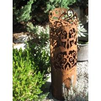 Edelrost Dekosäule Versailles 90 cm Rostsäule Pflanzsäule Gartendeko Rost Metall bei Etsy