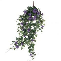 Mica Kunstpflanze Petunien hängend violett, 80 x 20 x 15 cm