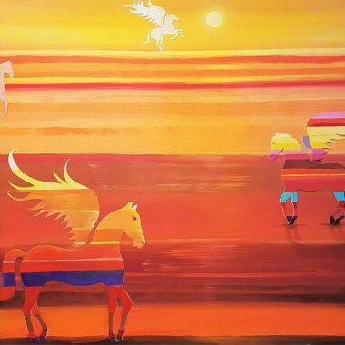 Ölbild: Pegasus 100x100 bei Lifeground
