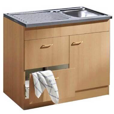 Küchenschrank mit Spüle Auflagebecken