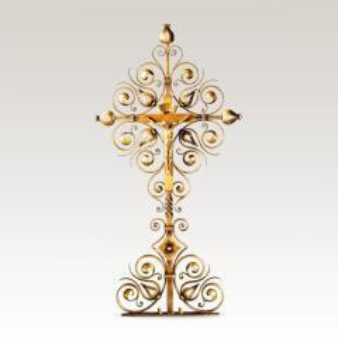 Exklusives Grabkreuz aus Metall mit...