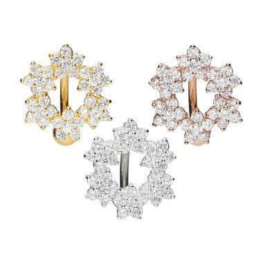 Piercinginspiration Kristall Blumenkranz Bauchnabel Piercing Barbell