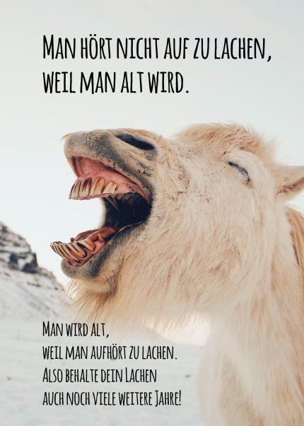 Hör nicht auf zu lachen!