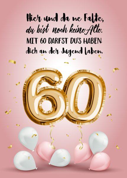 Geburtstagsgrüße zum 60.