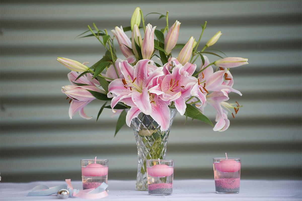 Blumenstrauß rosa LIlien