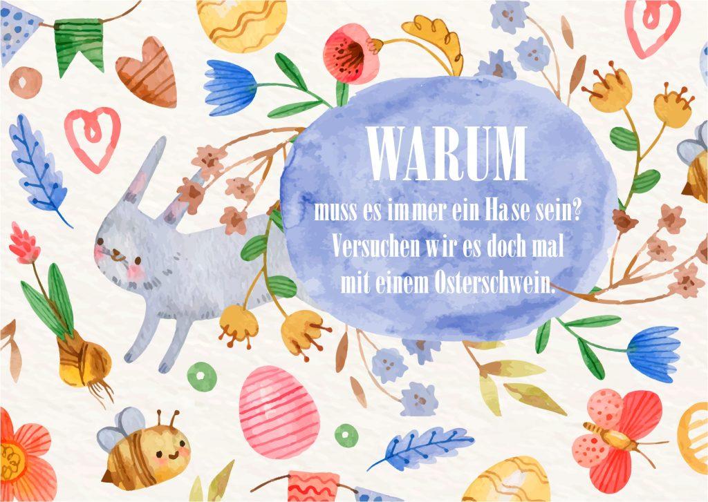 Karte für Ostern mit Spruch & Gruß zum Download für Freunde, Familie & Bekannte- Schöne Karten mit Ostergrüßen entdecken & versenden