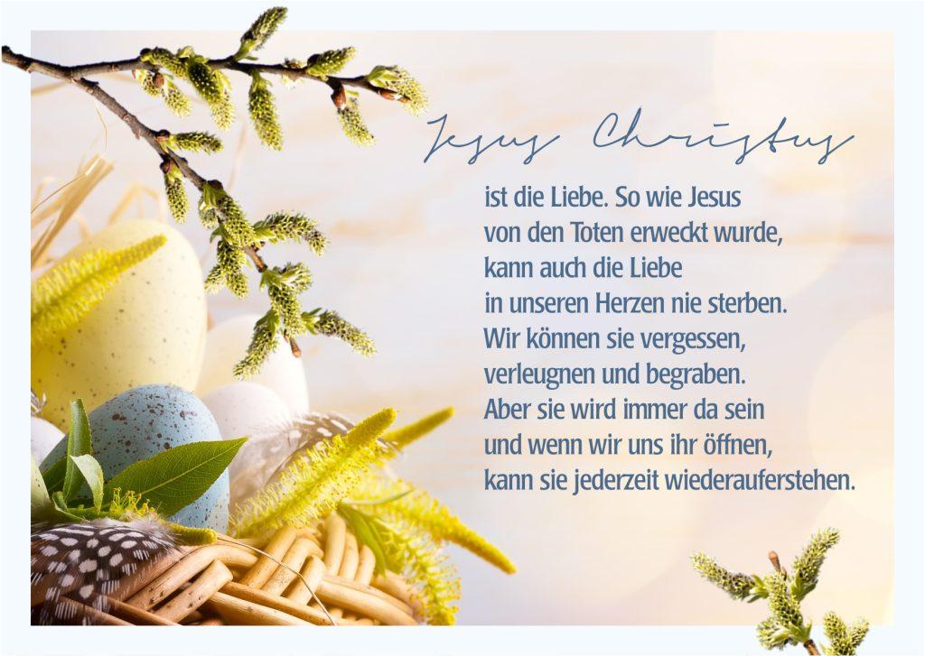 Christliche Karte für Ostern mit Spruch & Gruß zum Download für Freunde, Familie & Bekannte- Schöne Karten mit Ostergrüßen entdecken & versenden