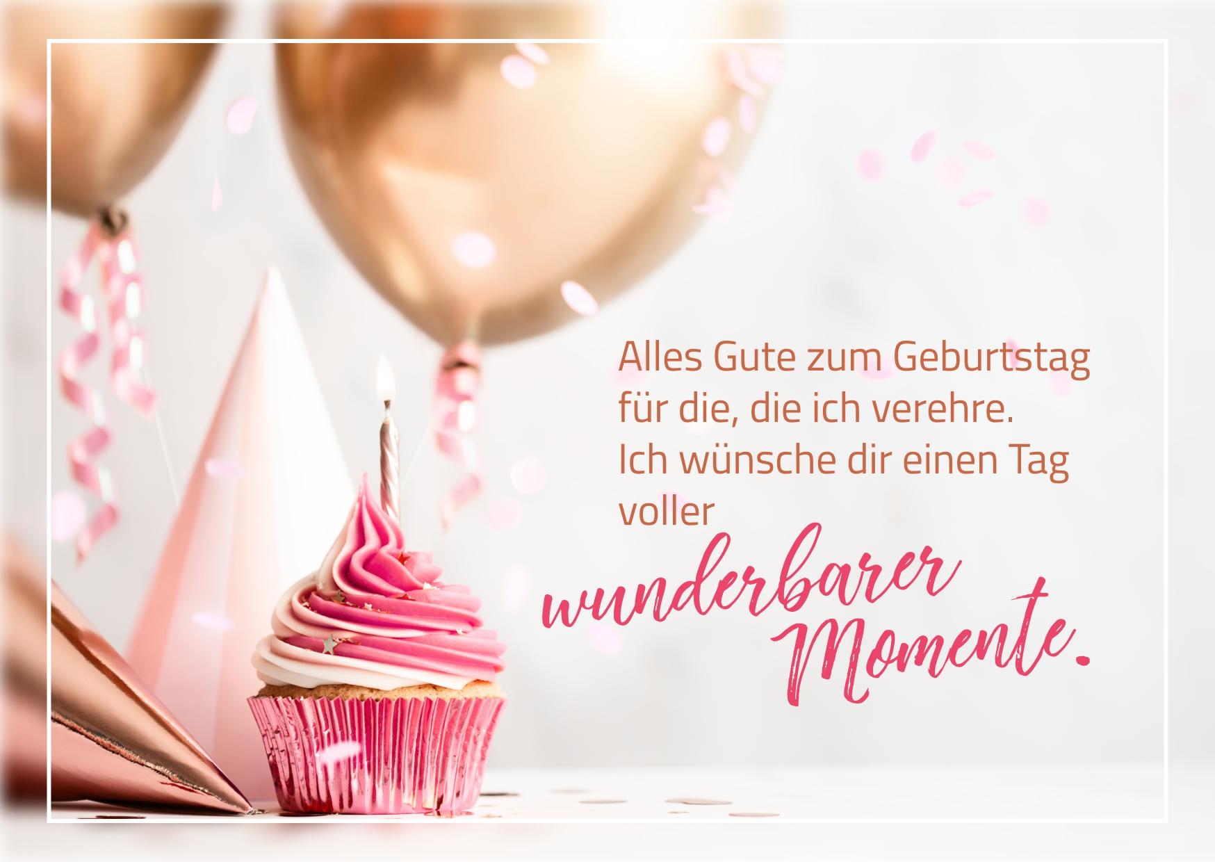 Geburtstagskarte mit schönen Geburtstagsspruch und Geburtstagsbild kostenlos zum Download / Herzliche Glückwünsche, lustige Sprüche & schöne Geburtstagsgrüße für Männer, Frauen und Kinder zum Teilen auf WhatsApp, Facebook