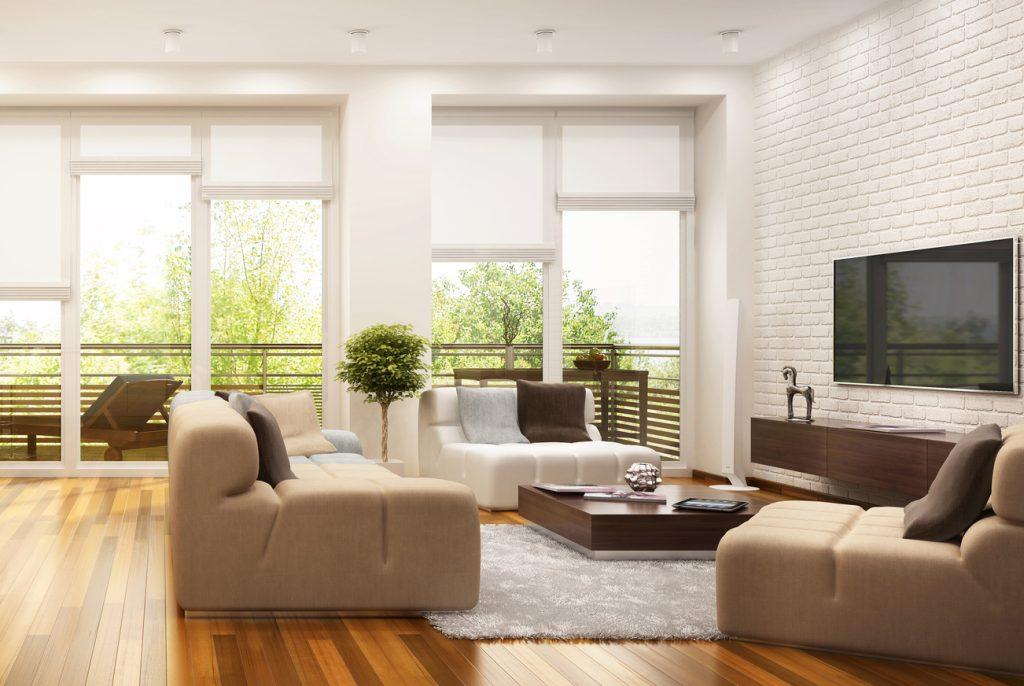 Moderne Wohnküche im offen gestalteten Konzept.