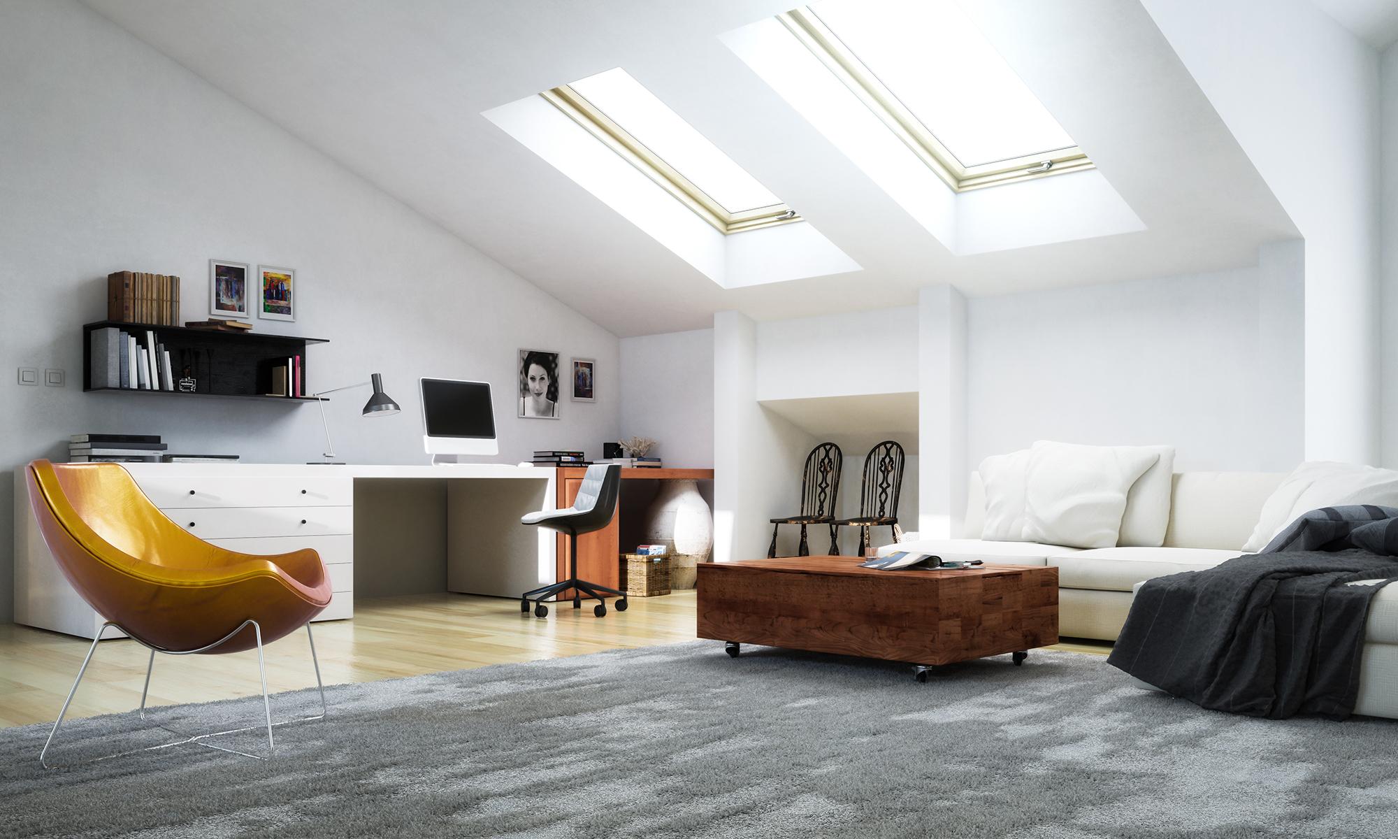Das Dachgeschoss wird gerne als Arbeitszimmer genutzt und sollte deshalb ordentlich & harmonisch eingerichtet werden