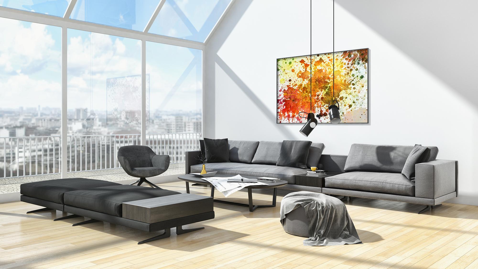 Wandgestaltung Wohnzimmer 22 Ideen Fur Wandfarbe 3d Tapete Co