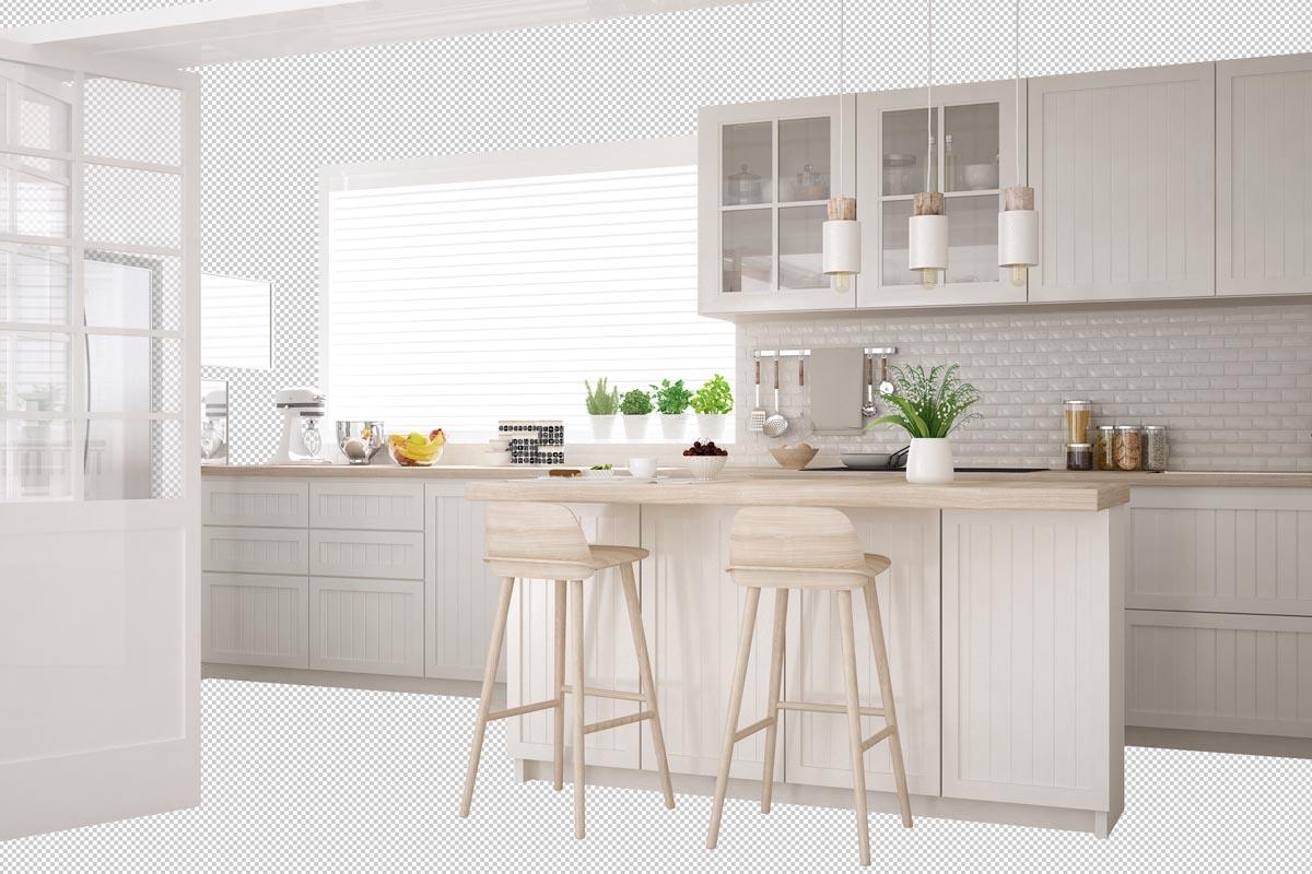 Küche im skandinavischen Design
