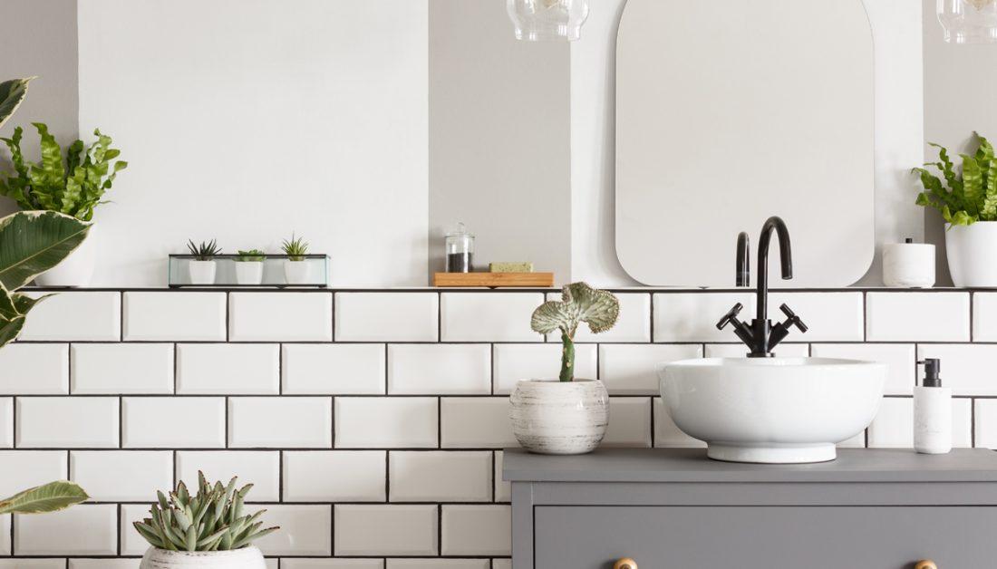 Badezimmer Idee Skandinavisches Badezimmer Mit Dekoration