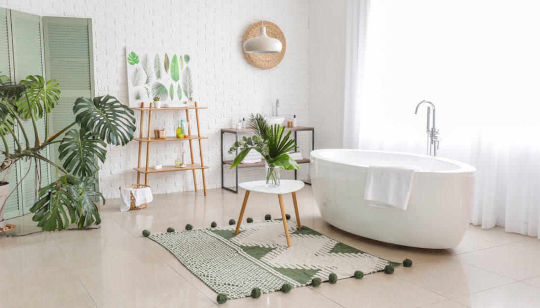 Badezimmer Idee Dekoriertes Badezimmer Im Scandi Style