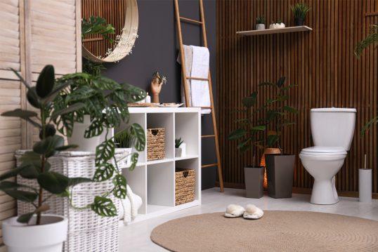 Wohnidee – Gemütliches Badezimmer mit Regalwürfel & Dekoleiter – B...