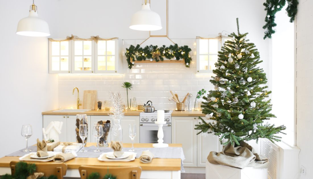 Kuchen Idee Weihnachtlich Dekorierte Landhauskuche