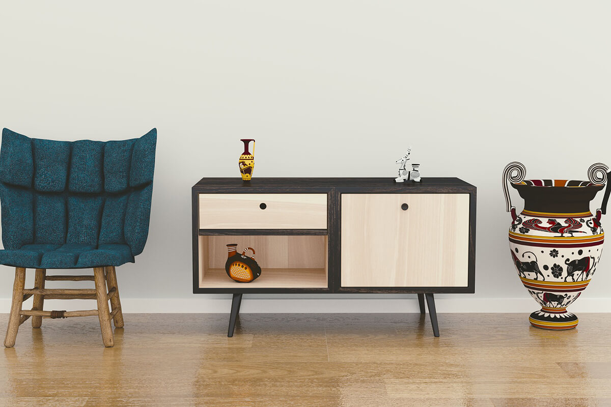 Einrichtung und minimalistische Dekoration nach Feng Shui