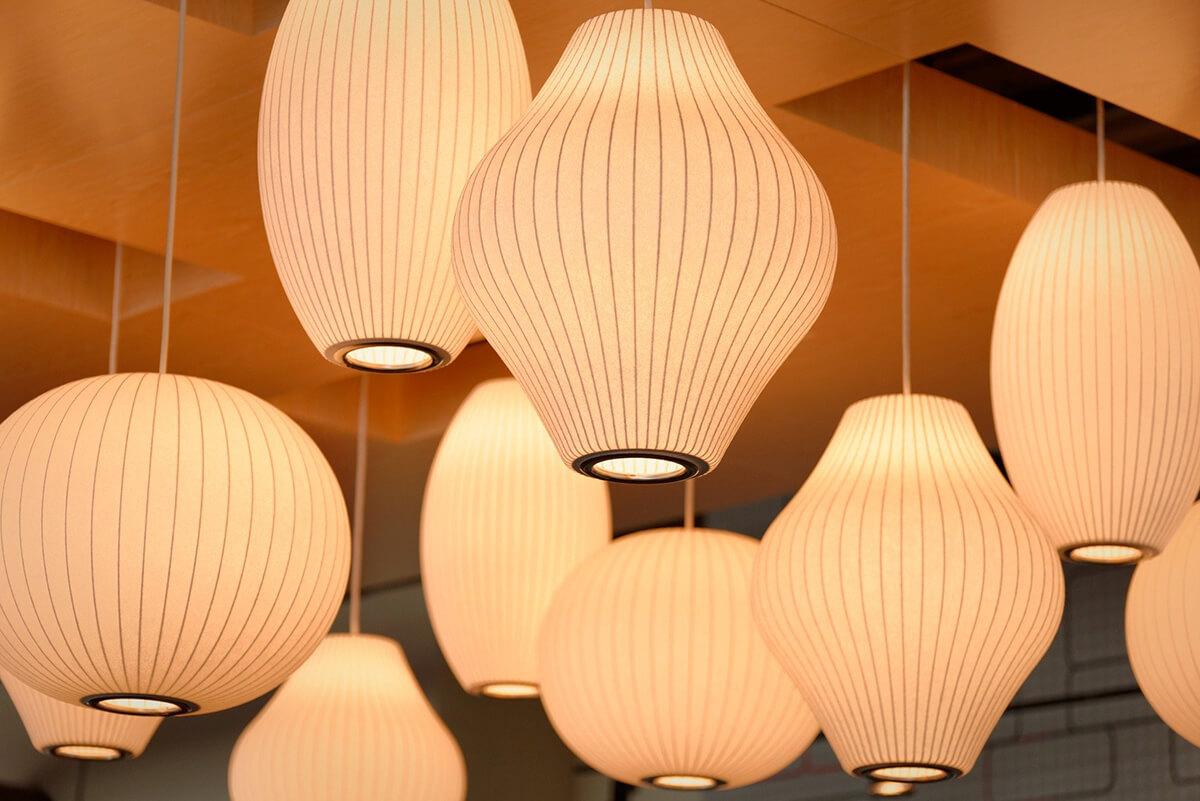 Lampen als typisches Element in der Feng Shui-Einrichtung