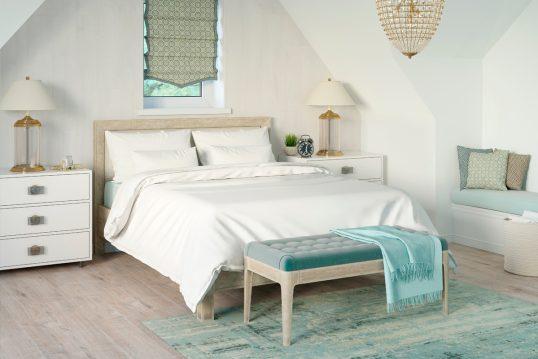 Wohnidee – Helles Schlafzimmer oder Gästezimmer im mediterranen Stil – ...