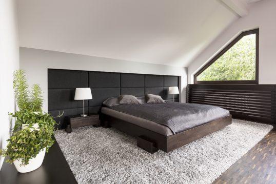 Gestaltungsidee – Modernes Gästezimmer oder Schlafzimmer minimalistisch einge...