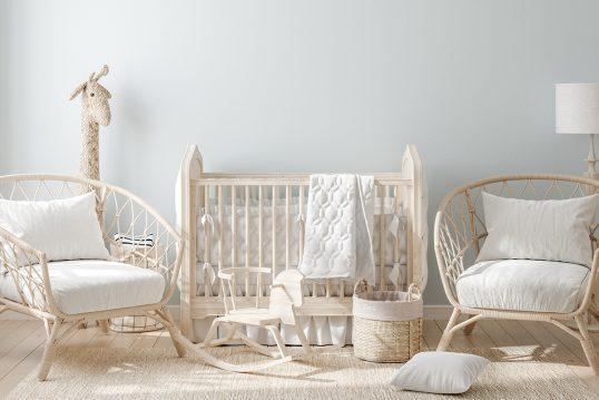 Babyzimmer Traum in hellen Farben für Mädchen & Jungen – Idee mit Babybe...