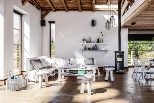 Helles Landhaus Wohnzimmer mit weißen Möbeln als Idee & Inspiration – Beispiel mit Landhaussofa ...