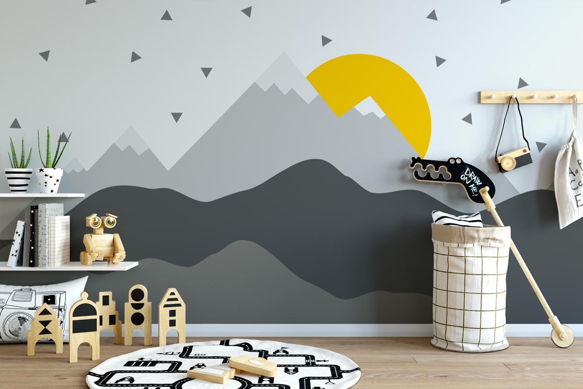 Wandgestaltung mit Bergen