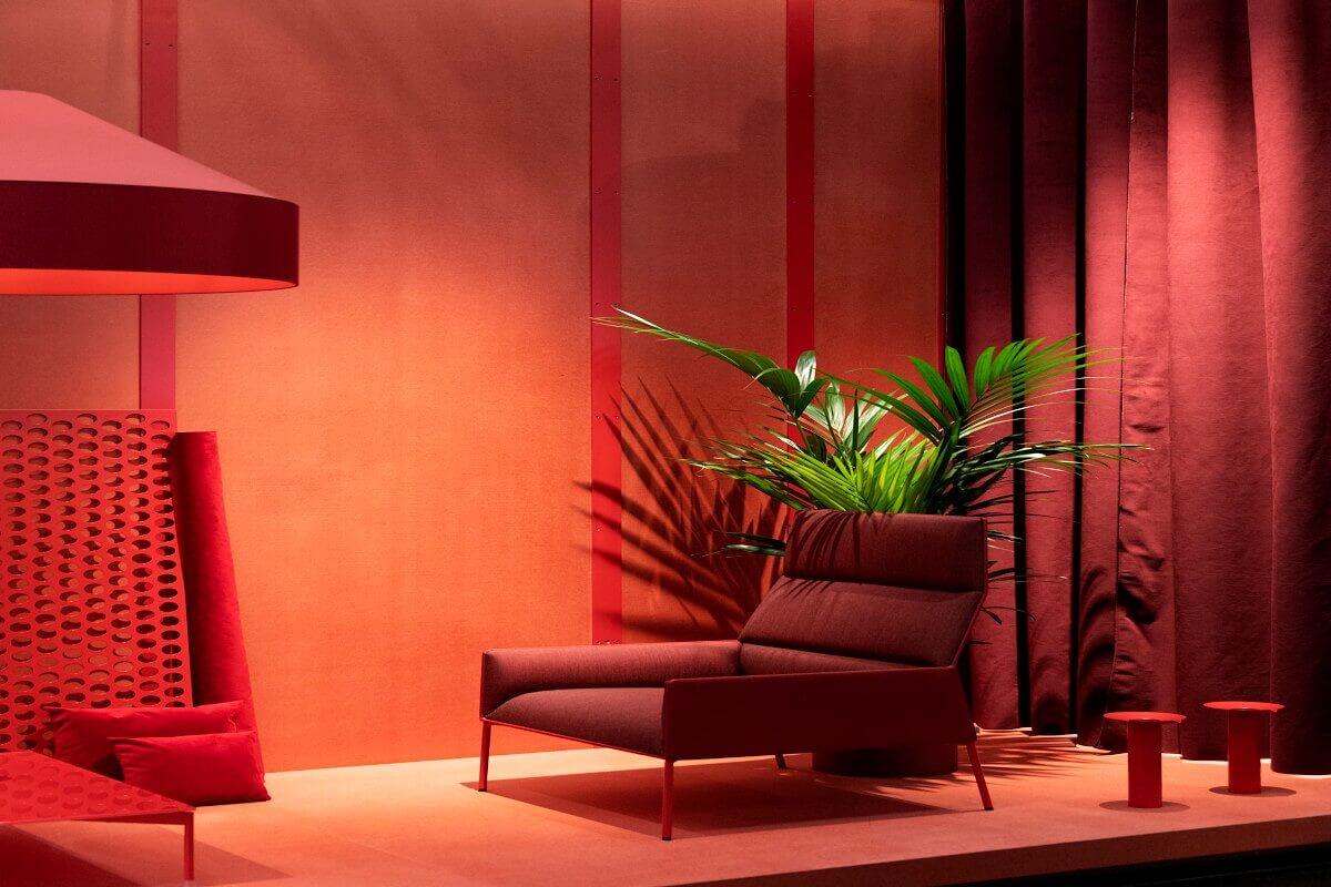 Warme Wandgestaltung in Rot