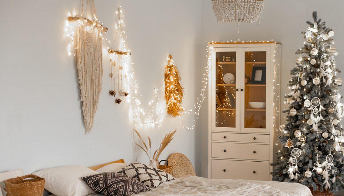 Schlafzimmer Idee Weihnachtsdeko Winterdeko